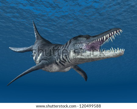 Liopleurodon Computer generated 3D illustration - stock photo