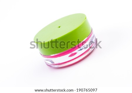 Lip balm on isolated white background