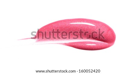 Lip gloss sample isolated on white  - stock photo