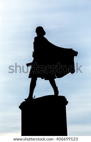 Lipetsk, Russia - September 18, 2014: Monument to Peter the Great is one of the main attractions of the city of Lipetsk