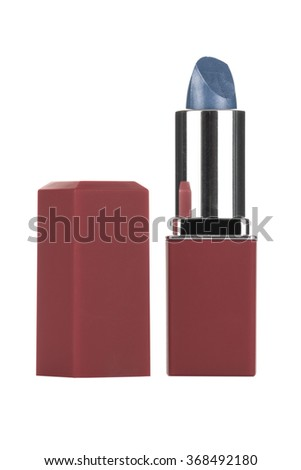 Lipstick balm with lid isolated on white background