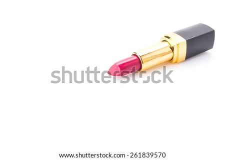 Lipstick isolated on white - stock photo
