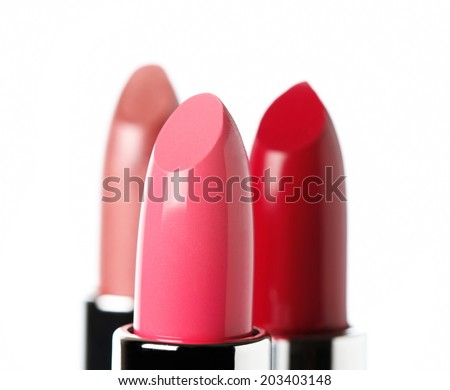 Lipstick isolated white background  - stock photo