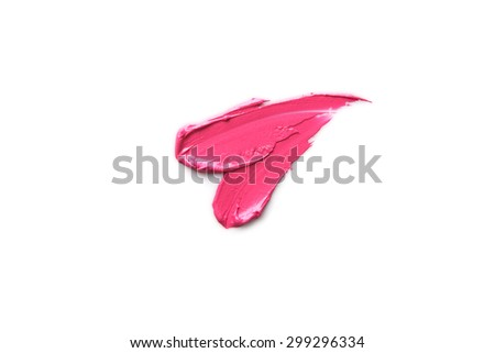Lipstick smear - stock photo