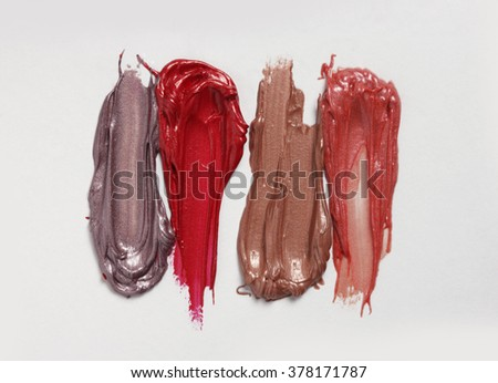 lipstick texture on a white background