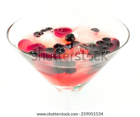 liqueur closeup on a white background - stock photo