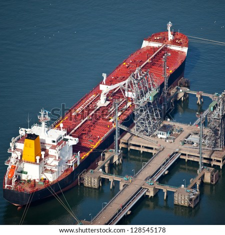 Liquid bulk carrier - stock photo