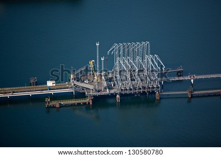 Liquid bulk terminal - stock photo
