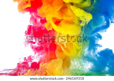 Liquid color in motion - stock photo