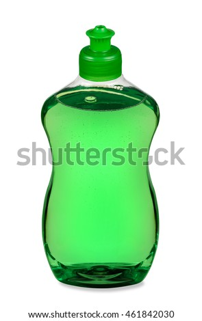 Liquid dish detergent bottle