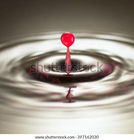 Liquid Droplet - stock photo