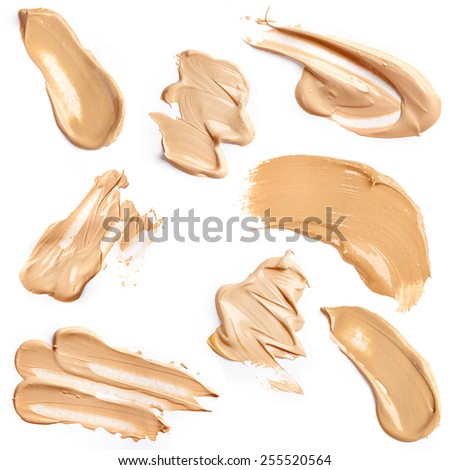 Liquid foundation isolated on white background - stock photo