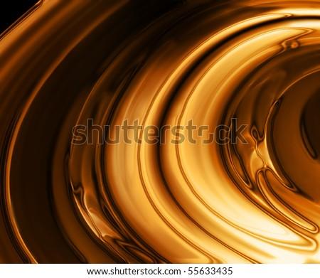 liquid gold background - stock photo