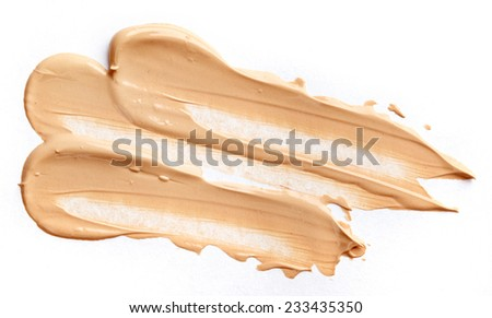 Liquid tone foundation isolated on white background