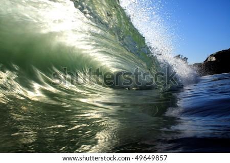 liquid tunnel. - stock photo