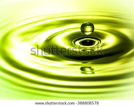 Liquid water droplet - stock photo