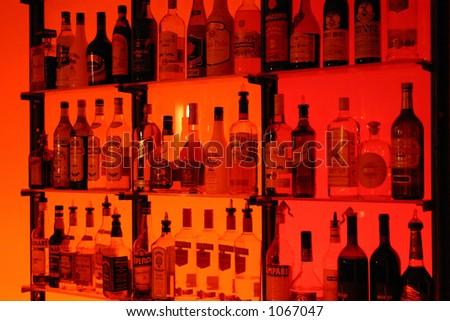 liquor at bar - stock photo