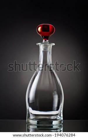Liquor decanter empty  - stock photo