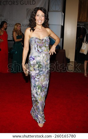 Lisa Edelstein at the 19th Annual Art Directors Guild Excellence In Production Design Awards held at the Beverly Hilton Hotel in Los Angeles on Saturday January 31, 2015.  - stock photo