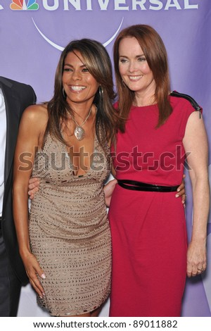"Lisa Vidal (left) & Laura Innes - stars of ""The Event"" - at NBC Universal TV Summer Press Tour Party in Beverly Hills.  July 30, 2010  Los Angeles, CA Picture: Paul Smith / Featureflash"