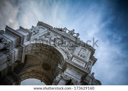Lisbon Arch - stock photo