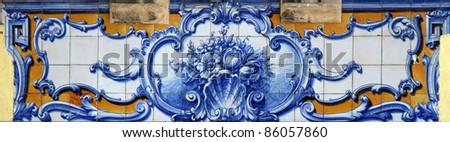Lisbon azulejos - stock photo