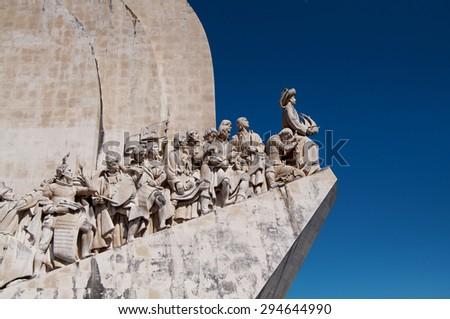 lisbon city portugal Sea Discoveries monument landmark  - stock photo