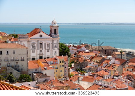 Lisbon cityscape of the Alfama district, Portugal