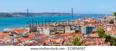 Lisbon Historical City Panorama, Portugal