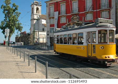 LISBON - JULY 31: The Lisbon tramway network, in operation since 1873, presently comprises five urban lines, and is primarily a tourist attraction. July 31 2006 in Lisbon, Portugal