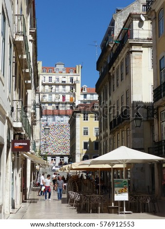 Lisbon / Lisbon streets / picture showing the stunning narrow streets of Lisbon, taken in August 2016.