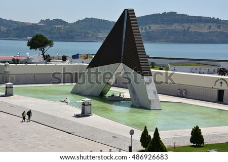 LISBON, PORTUGAL - AUG 21: Monumento aos Combatentes do Ultramar in Lisbon, Portugal, on Aug 21, 2016. It was erected for soldiers that lost their lives during the 1964-1971 conflict in Africa.