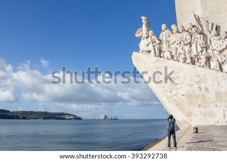 LISBON, PORTUGAL,- MARCH, 04, 2016:Monument of the Discoveries, Lisbon, Portugal.