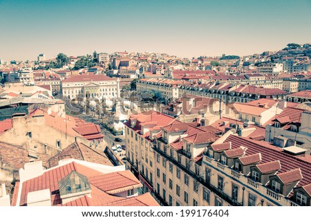 Lisbon, Portugal - May 11: Traditional old buildings on May 11, 2014.
