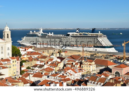 Lisbon Portugal Sep Cruise Stock Photo - Lisbon cruise ship port