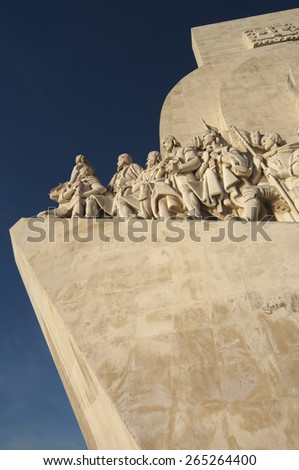 LISBON/PORTUGAL 10TH DECEMBER 2006 Discoveries Monument - stock photo