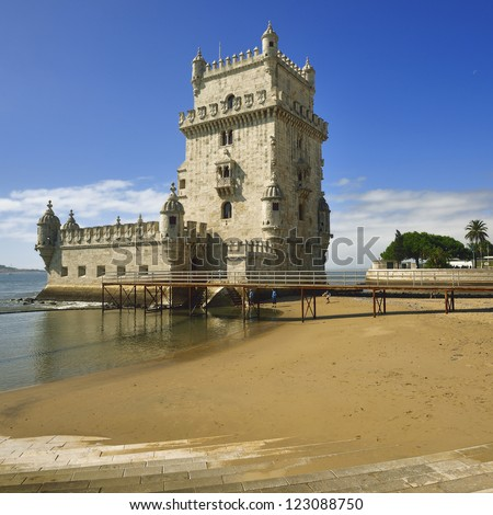 Lisbon, Portugal. Tower of Belem - Torre de Belem