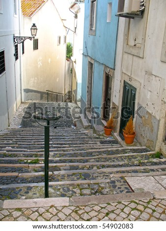 Lisbon stairs
