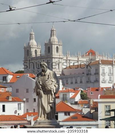 Lisbon view - stock photo