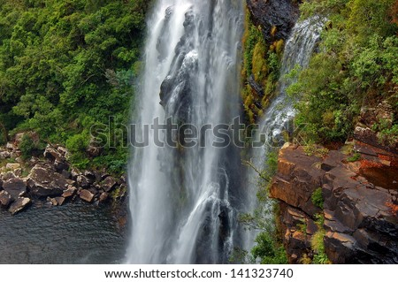 Lisbon waterfall. Blyde river, Mpumalanga, Drakensberg, South Africa