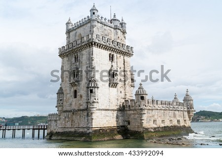 Lisbon waterfront (Portugal) - stock photo