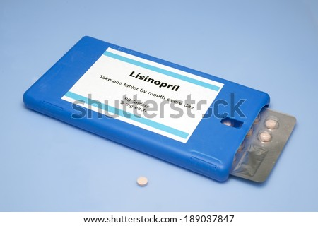 Lisinopril tablets for the treatment of hypertension.