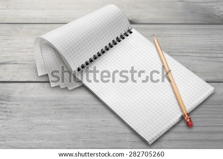 List, mark, checking. - stock photo