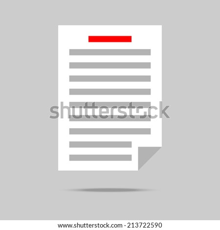 List with gray text icon - stock photo