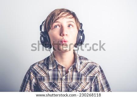 listen good music - stock photo