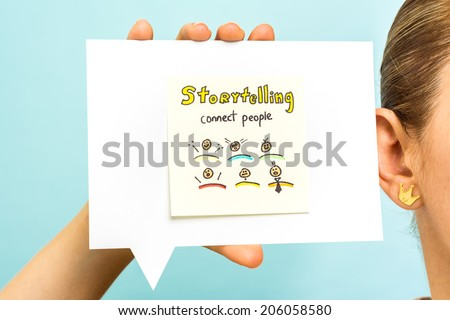 Listening your story concept - stock photo