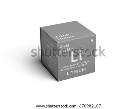 Alkali metals stock images royalty free images vectors alkali metals chemical element of mendeleevs periodic table lithium in square cube urtaz Choice Image
