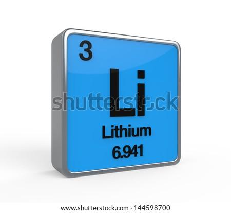 Lithium Element Periodic Table - stock photo