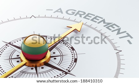 Lithuania High Resolution Agreement Concept - stock photo