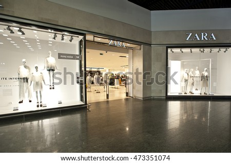 LITHUANIA-JUNE 10:ZARA  fashion store on June 10,2016 in Lithuania.Zara is an Spanish clothing and accessories retailer.